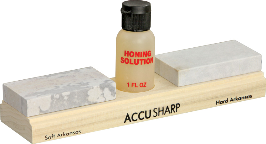 AS023C Accusharp Arkansas Whetstone Combination Knife Sharpening Kit
