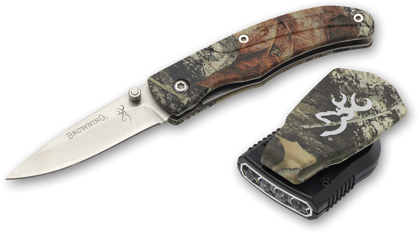 BR5096 Browning Night Seeker Cap Light Knife Combo