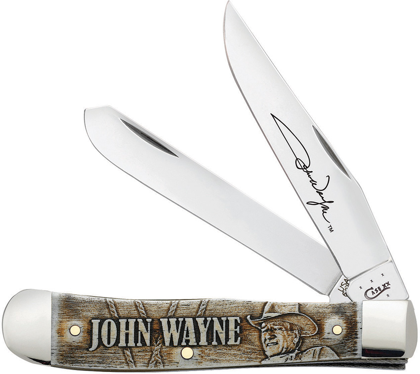 CA10699 Case Cutlery John Wayne Trapper Pocket Knife Embellished Smooth