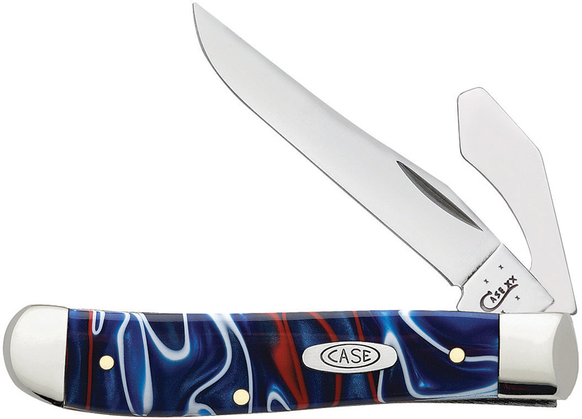 CA11212 Case Mini Trapper Pocket Knife Patriot Kirinite