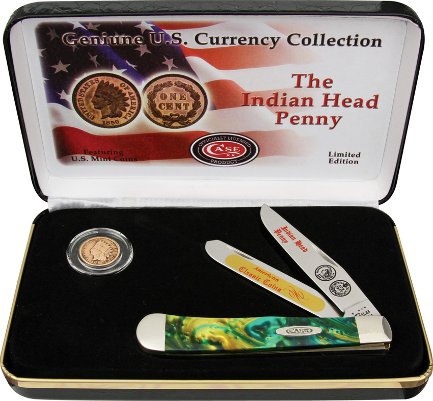 CAIHPCE Case Indian Head Penny Gift Set