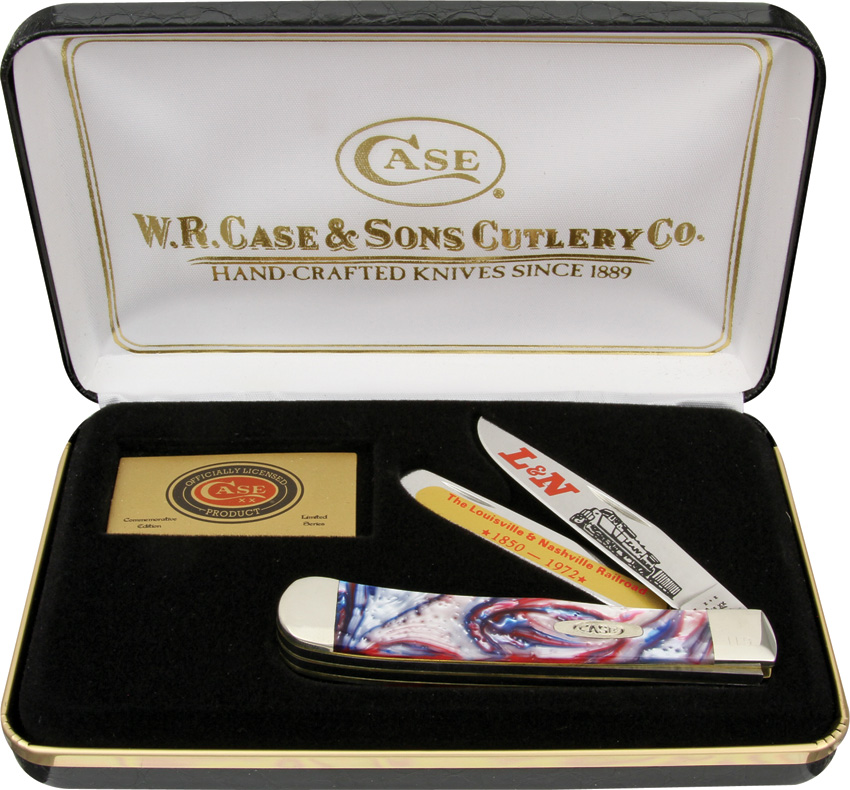 CALNSTAR Case L&N Railroad Trapper Pocket Knife