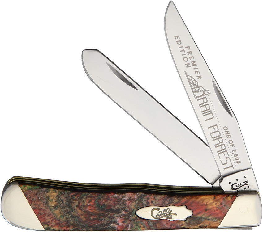 CAS9254RF Case Trapper Pocket Knife Rain Forest
