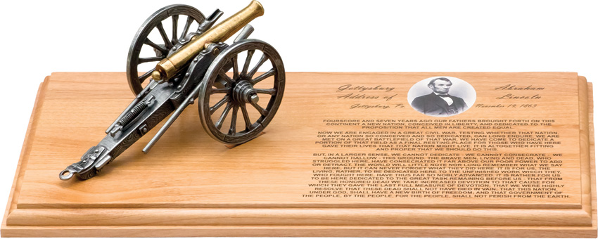 DX215 Denix Gettysburg Address Cannon Replica Set