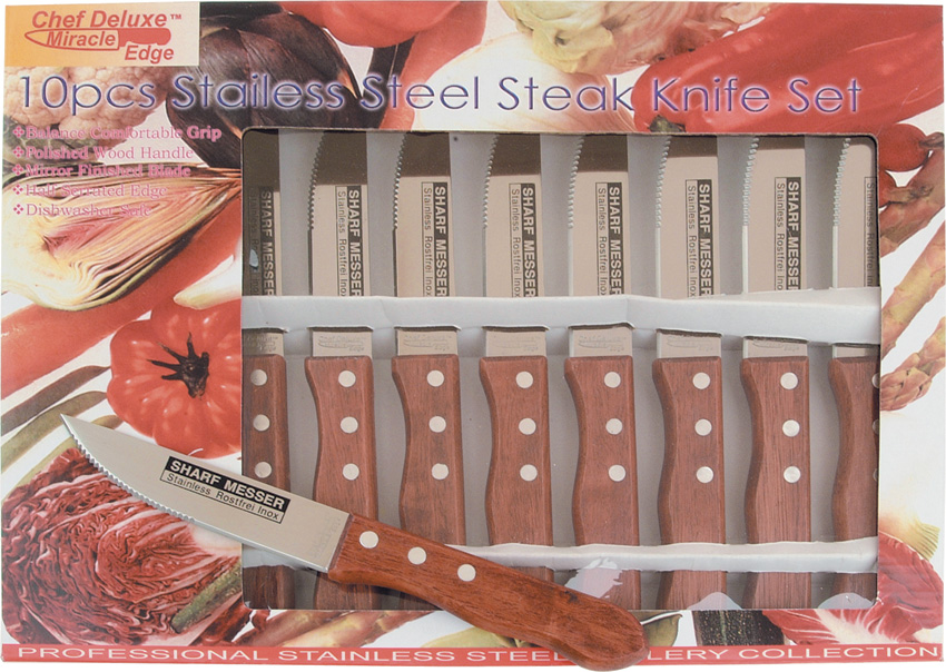 FCD02 Frost Chef Deluxe 10 Piece Steak Knife Set