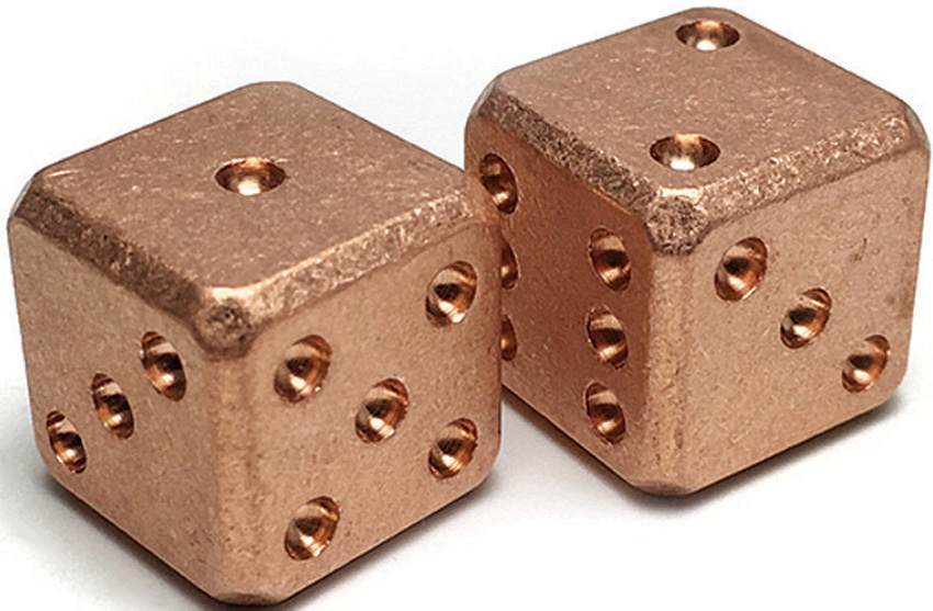 FLY009 Flytanium Copper SW Cuboid Dice Set