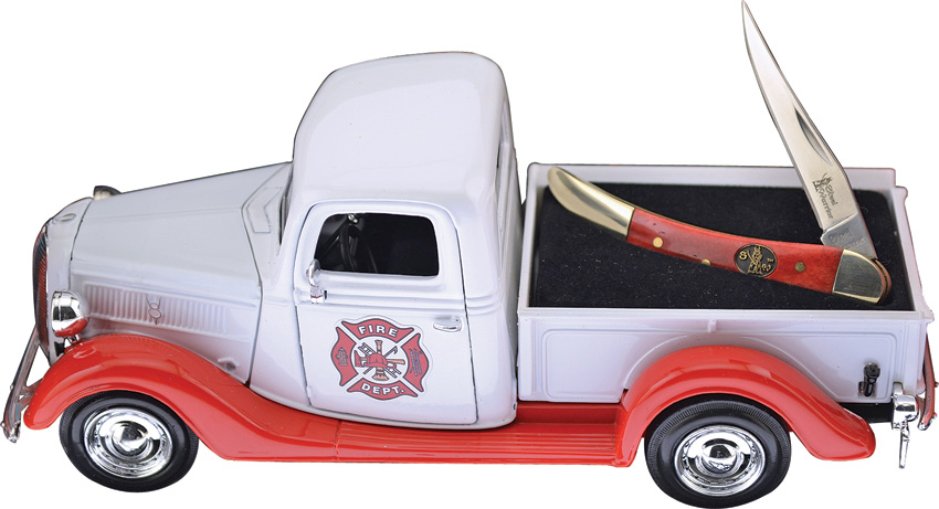 FPUFF Frost Cutlery 1937 Ford Pickup and Pocket Knife Set Firefighter