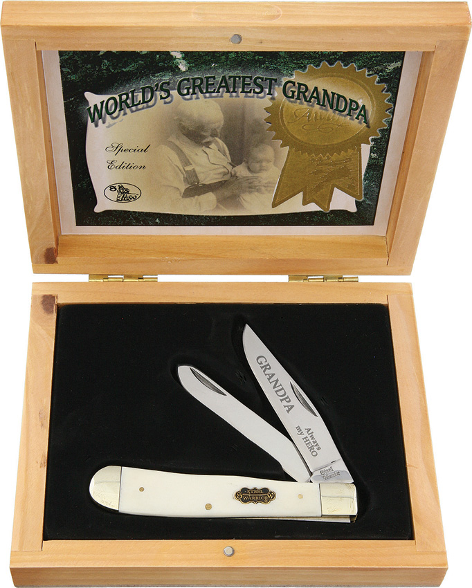 FSET108WGP3 Frost Cutlery Greatest Grandpa Trapper Pocket Knife