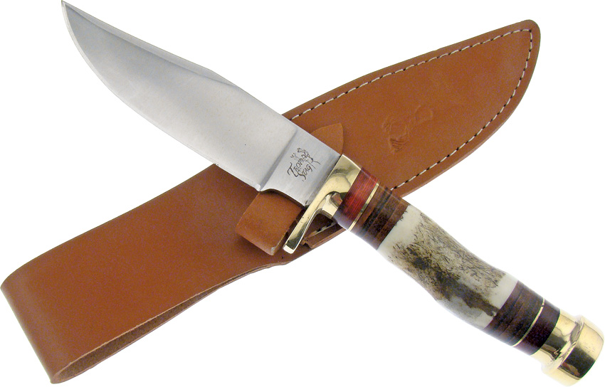 FTS169 Frost Cutlery Trophy Stag Bowie Knife