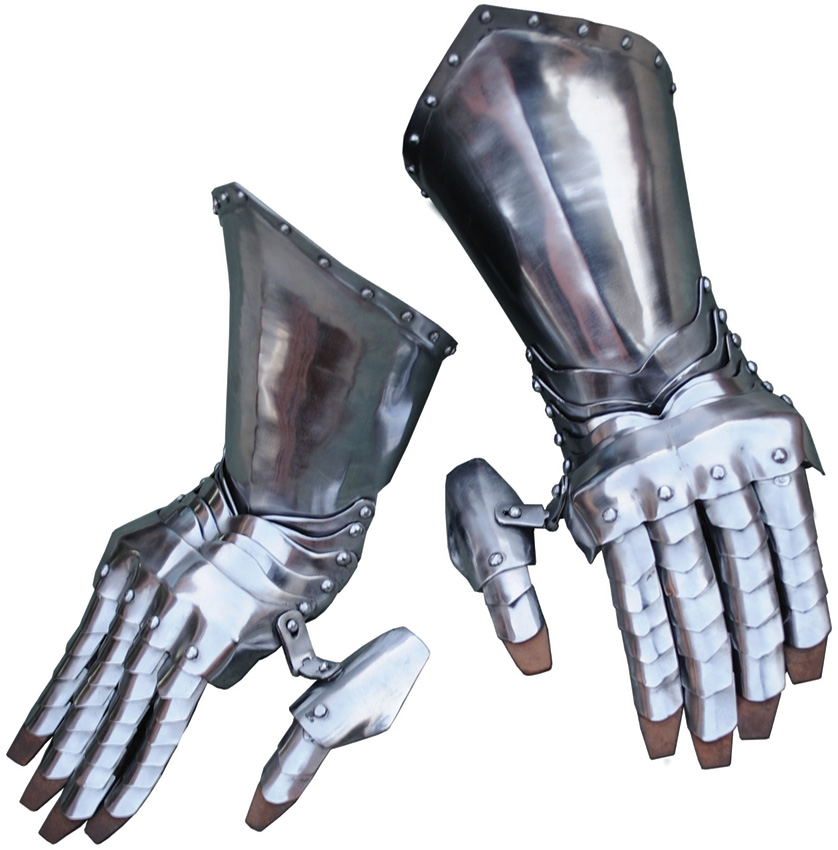 GB3943 Get Dressed For Battle Articulated Steel Gauntlets