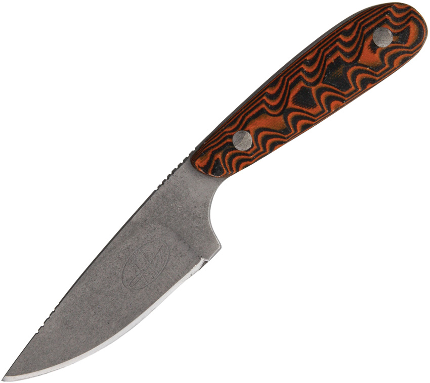 HAZTUM01OR Hazen Knives Small Fixed Blade Knife Orange