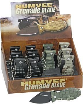 HMV00001 Humvee 12 Pack Mini Grenade Knives
