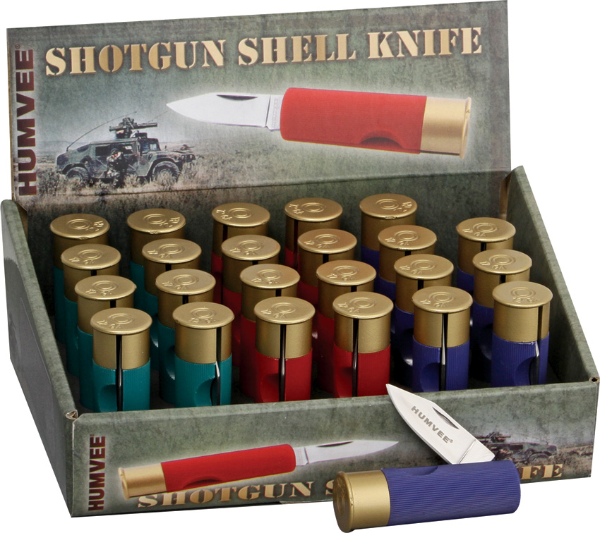 HMVDBSHOT Humvee Shotgun Shell Knives 24 Piece with Display