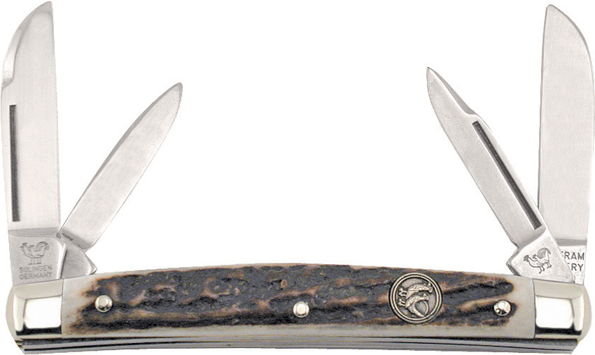 HR114DS Hen & Rooster Small Congress Pocket Knife Deer Stag