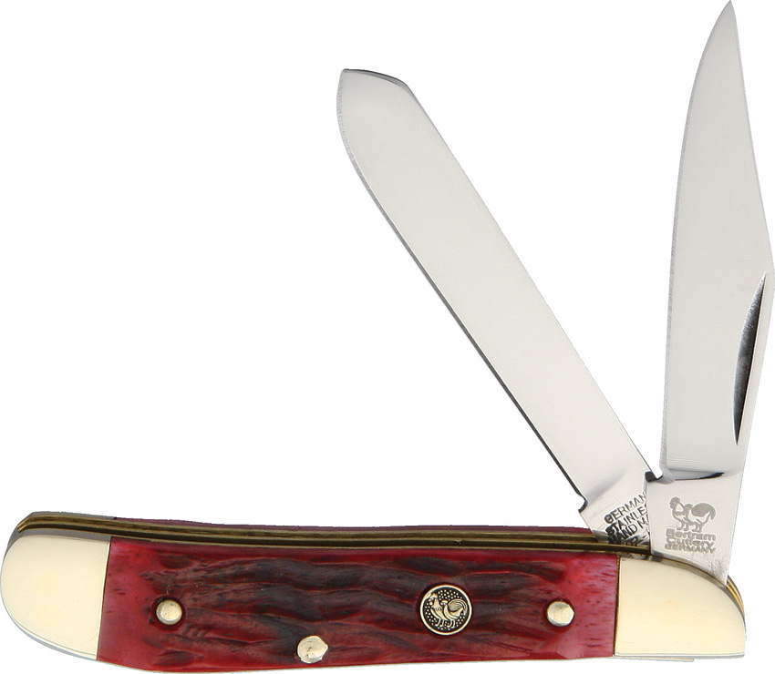 HR402RPB Hen & Rooster Peanut Pocket Knife Red Pick Bone