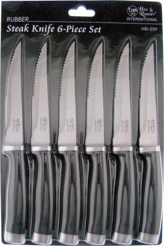 HRI039 Hen & Rooster International 6 Piece Steak Knife Set