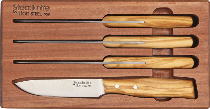 LST9001SUL Lion Steel Four Piece Steak Knife Set