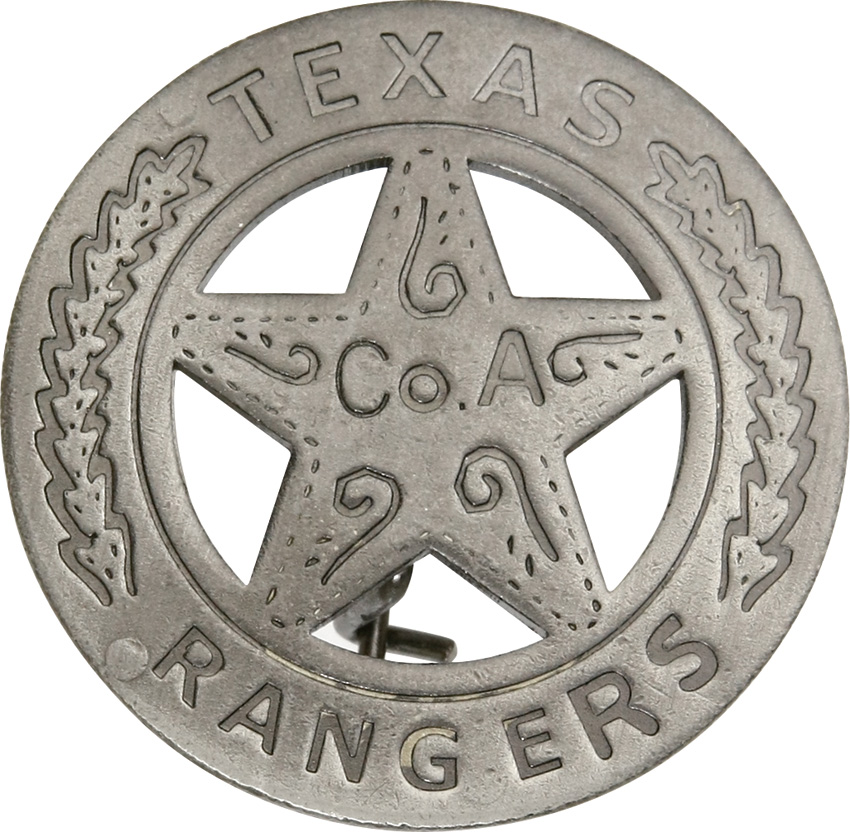 MI3011 Badges Of The Old West Texas Rangers Badge