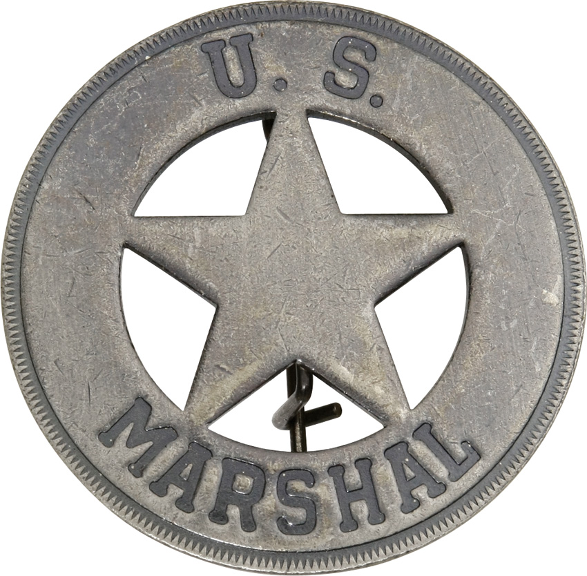 MI3019 Badges Of The Old West US Marshal Badge
