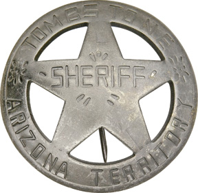 MI3029 Badges Of The Old West Tombstone Arizona Terr Sheriff