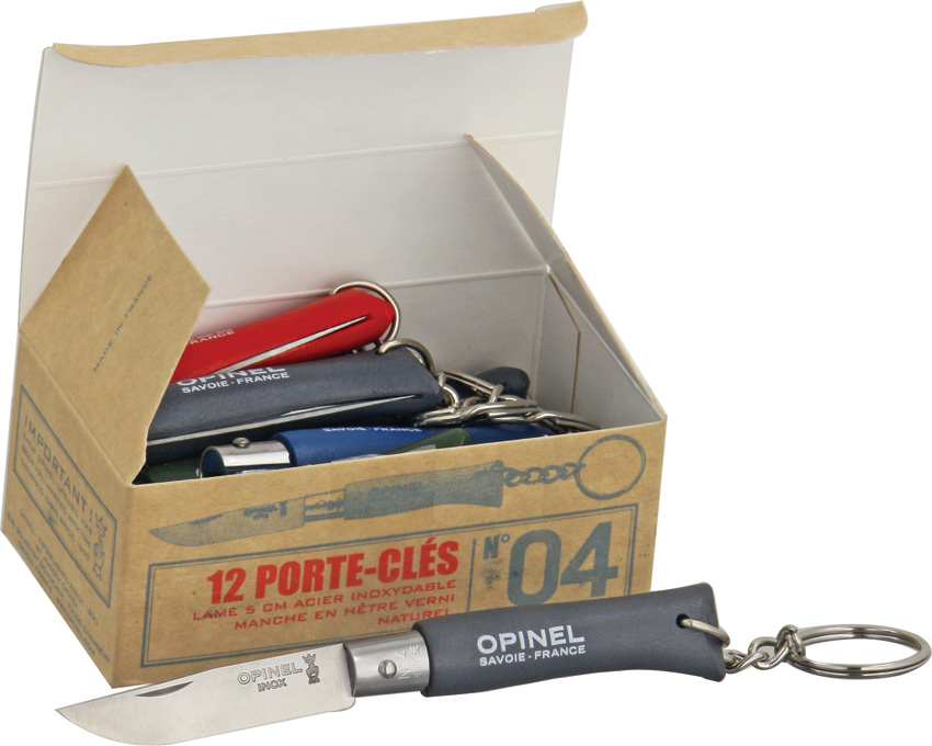 OP01707 Opinel No 4 Knife 12 Piece Assorted Colors