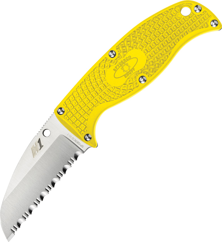 SCFB31SYL Spyderco Enuff Salt Knife Yellow