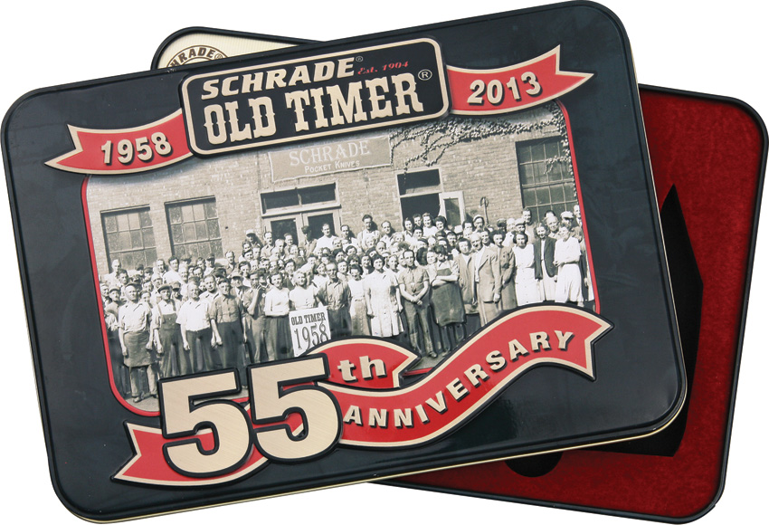SCH55TIN Schrade Old Timer 55th Anniversary Tin