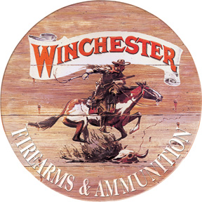 TSN0975 Tin Sign - Winchester Express Round