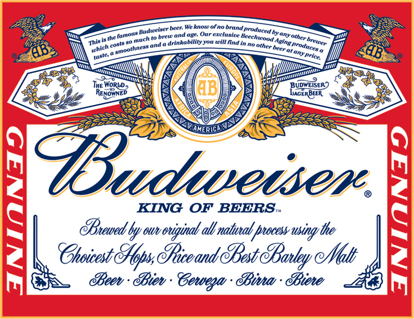 TSN0979 Tin Sign - Budweiser - Label