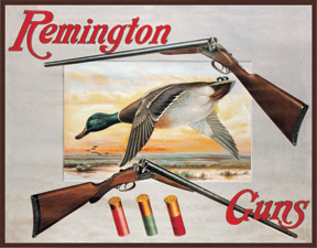 TSN1002 Tin Sign - Remington Shotguns and Ducks
