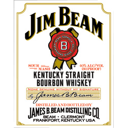 TSN1061 Tin Sign - Jim Beam White Label