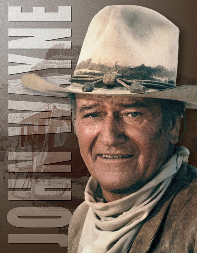TSN1188 Tin Sign - John Wayne Stagecoach