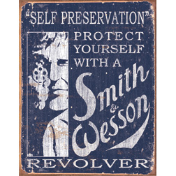 TSN1515 Tin Sign - Smith & Wesson Self Preservation