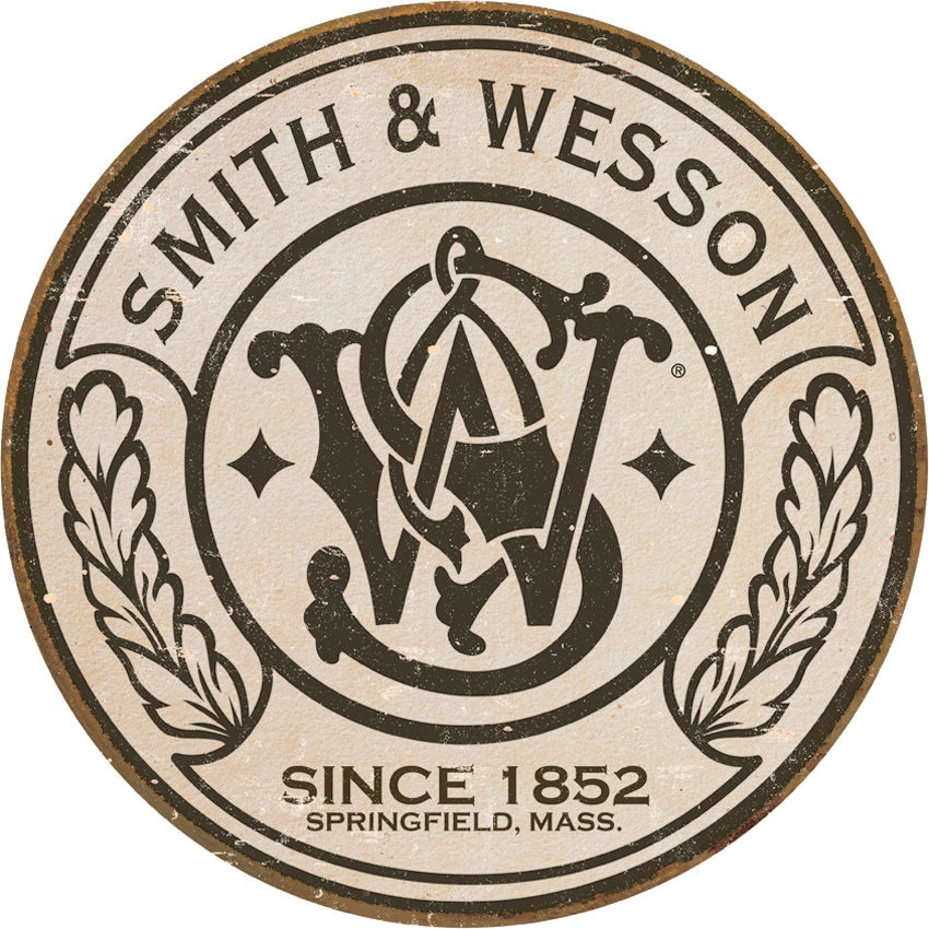 TSN1608 Tin Sign - Smith & Wesson Round Logo