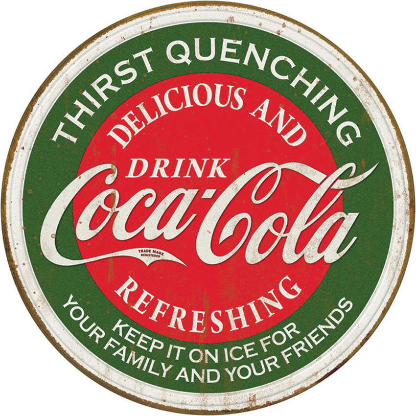 TSN1659 Tin Sign - Coca Cola Delicious and Refreshing