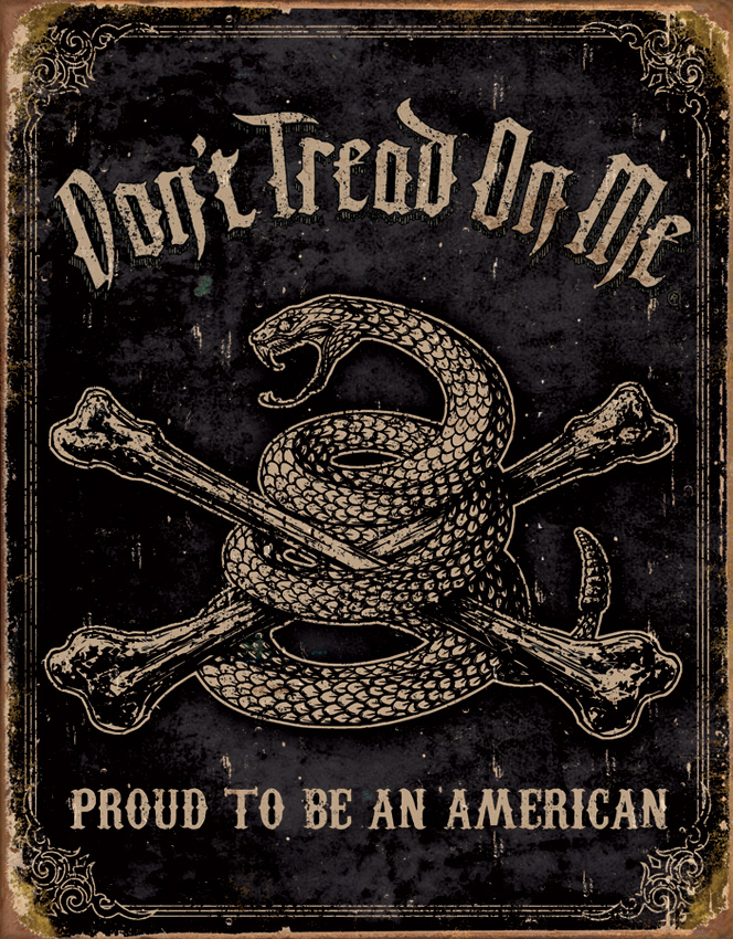 TSN1692 Tin Sign - DTOM Proud American
