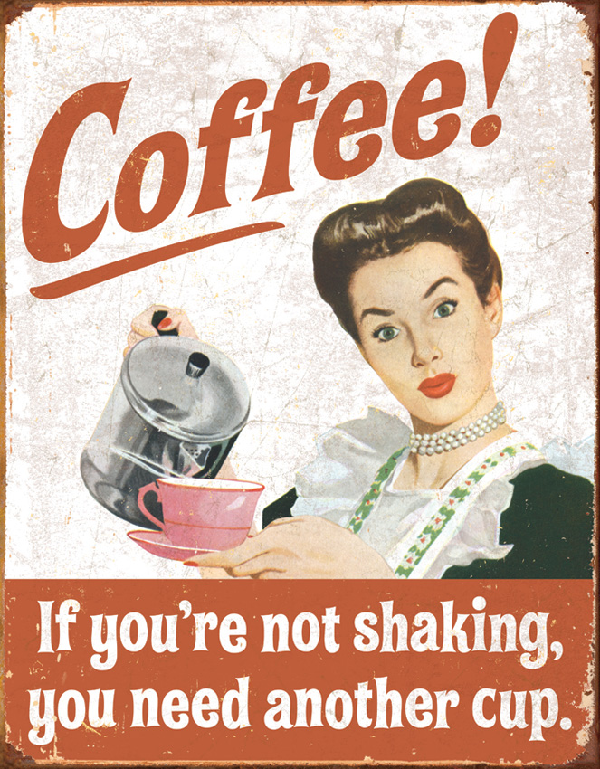 TSN1714 Tin Sign - Coffee Shaking
