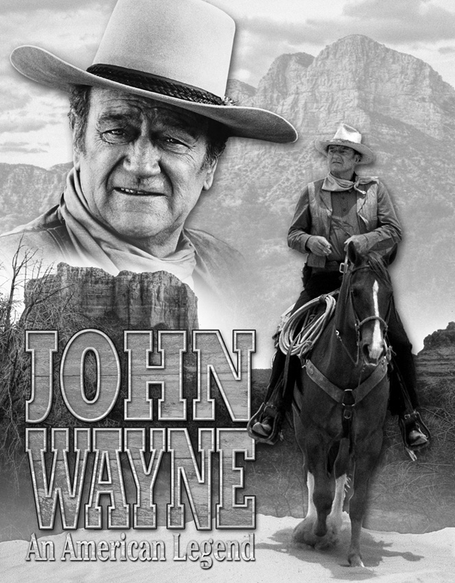 TSN1748 Tin Sign - John Wayne American Legend