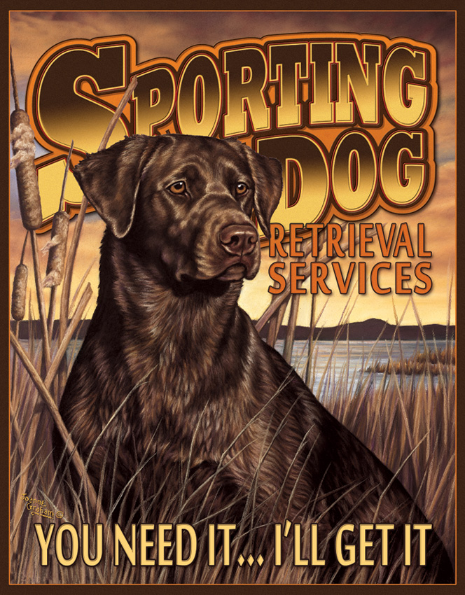 TSN1772 Tin Sign - Sporting Dog Services