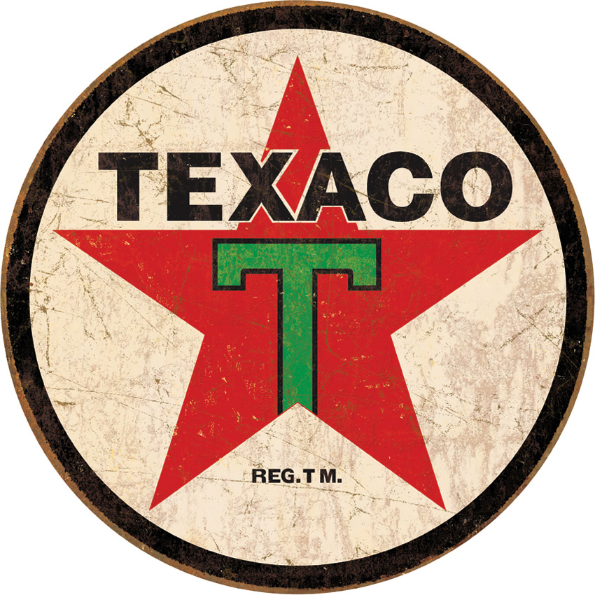 TSN1798 Tin Sign - Texaco Round