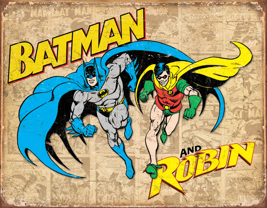 TSN1826 Tin Sign - Batman & Robin