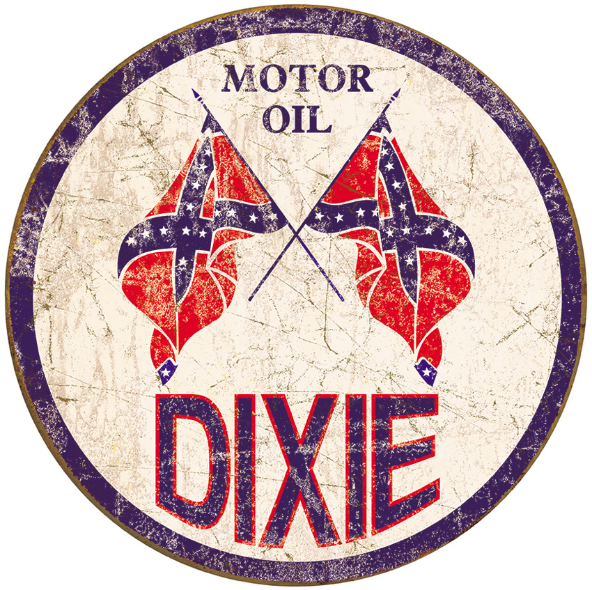 TSN1954 Tin Sign - Dixie Motor Oil