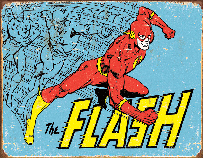 TSN1959 Tin Sign - The Flash Retro