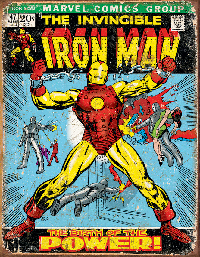 TSN1969 Tin Sign - Iron Man Comic Cover