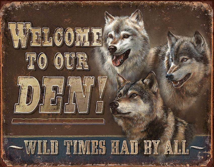 TSN1984 Tin Sign - Welcome To Our Den