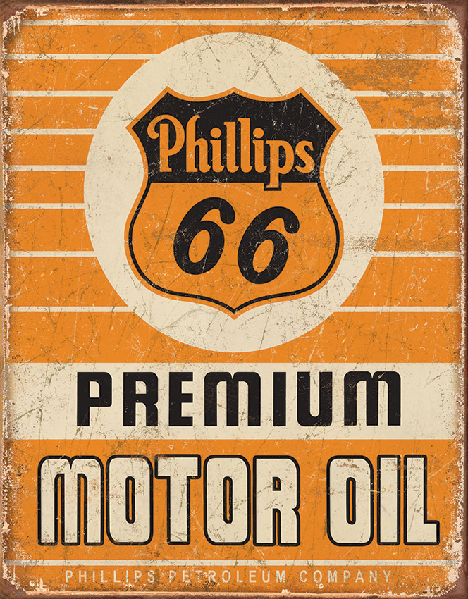 TSN1996 Tin Sign - Phillips 66 Premium Oil