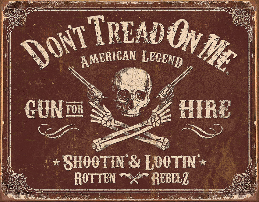 TSN2007 Tin Sign - DTOM Gun for Hire