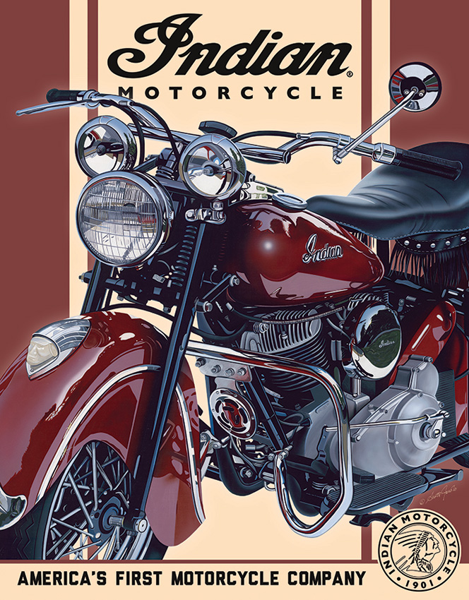 TSN2009 Tin Signs Indian 48 Chief Tin Sign