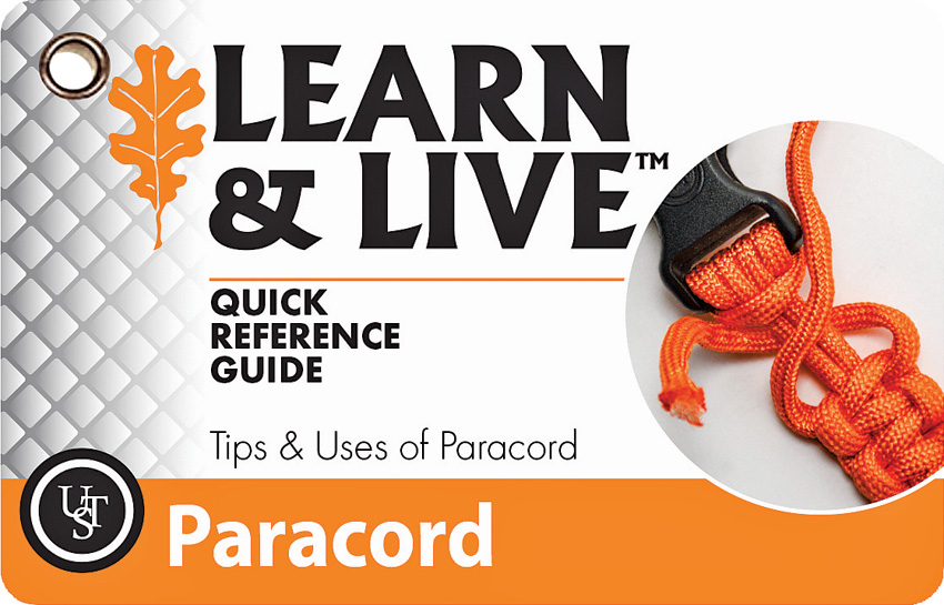 WG02466 UST Learn & Live Cards Paracord