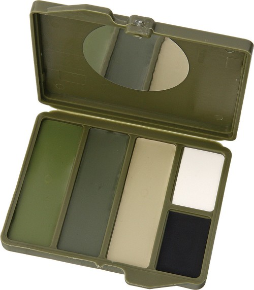 CAM4500 Camouflage Face Paint Woodland 5-Color Compact